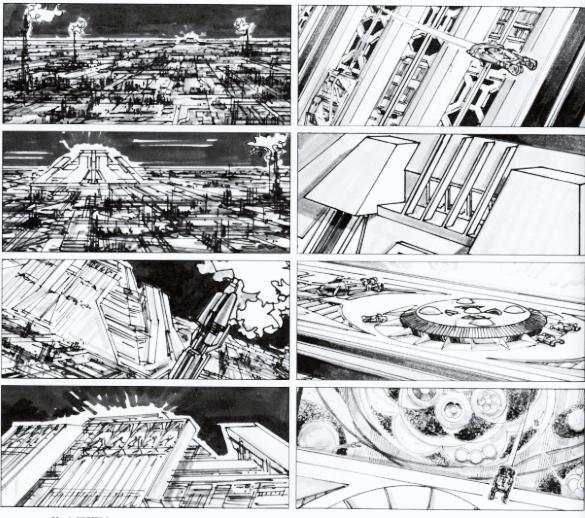 Ridley Scott - Bladerunner Storyboard