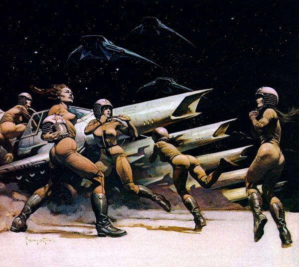 Frank Frazetta - Space Attack