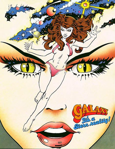 Galaxy - Pinball Flyer