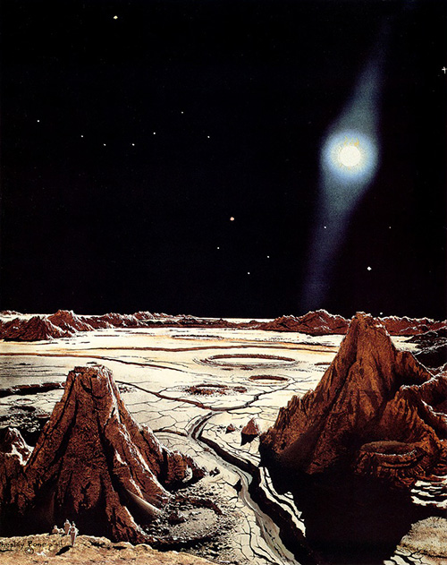 "Chesley Bonestell ""The Surface of Mercury"""