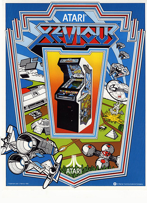 Xevious - Arcade Machine Flyer